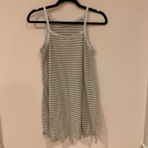 Lulu Rhythm Swell Beige Striped Dress